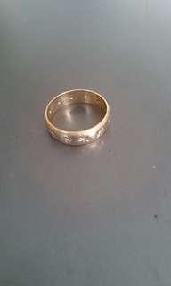 Gold and Diamond Wedding Ring