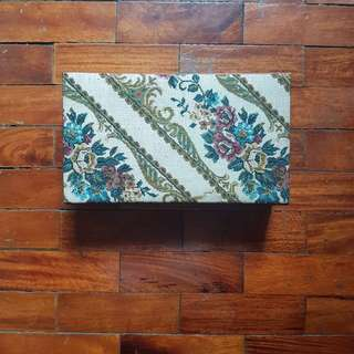 Embroidered Vintage Jewelry Box