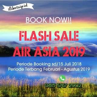 Flash sale air asia tiket pesawat promo
