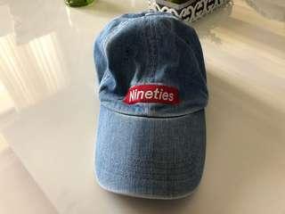 Retro Vintage Forever 21 90's Dad Hat Denim Cap
