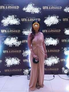 Style Staple Nude Grandeur Twist Dress