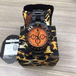 BAPE BAPEX x BEAMS WATCH DAYTONA 錶 全新 Japan 連迷彩盒