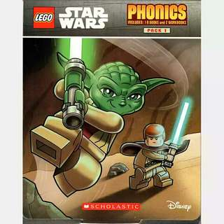 Lego Star Wars Phonics Include 10 Books and 2 Workbooks