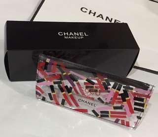 Chanel 透明印字化妝袋 (禮盒包裝)