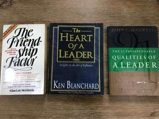 The Heart of a Leader, Qualities of a Leader and The Friendship Factor