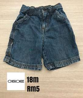 Cherokee baby short jeans(18mths)