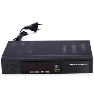 DVB T2 DIGITAL TV BOX WITH RECORDING FUNCTION. With hdmi cable and digital antenna. Support usb flash drive recording