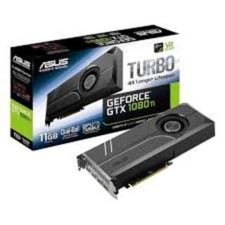 AS TURBO-GTX1080TI-11GASUS TURBO-GTX1080TI-11GB GDDR5X (3Y)