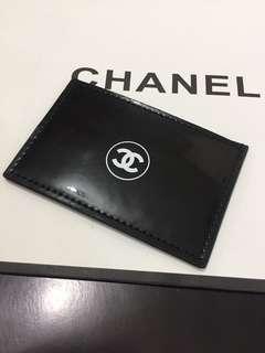 Chanel 黑色漆皮卡片套