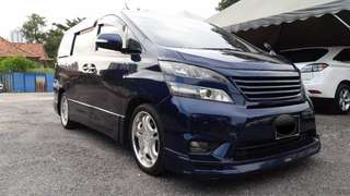 SAMBUNG BAYAR/CONTINUE LOAN  TOYOTA VELLFIRE 2.4 YEAR 2010/2011 MONTHLY RM 1800 BALANCE 6 YEARS ROADTAX VALID SUNROOF MOONROOF POWER DOORS 7 SEATERS  DP KLIK wasap.my/60133524312/bluevell
