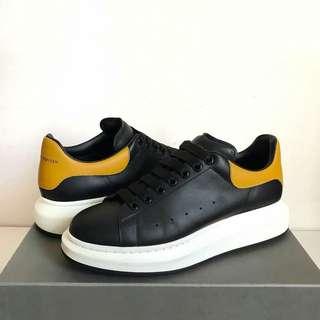 Alexander McQueen sneakers black/yellow sz 43