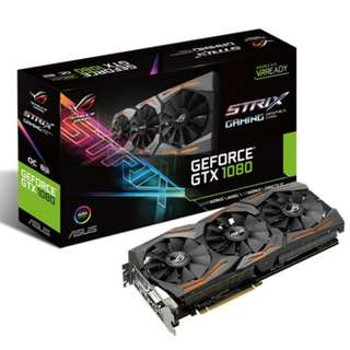 AS STRIX-GTX1080-O8G-GAMING	ASUS ROG STRIX-GTX1080-O8G-GAMING TRIPLE FAN(3Y)