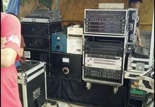 Disco sound equipments and lights package