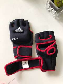 Adidas .50 weighted gloves weights for zumba aerobics sports gym fitness
