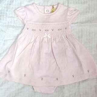 花仔粉紅裙仔加內褲, size: 0-3 months