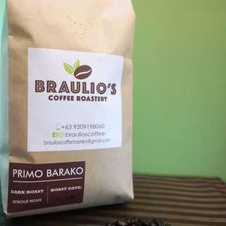 Braulio's Coffee Roastery Primo Barako 1Kg. Whole Bean