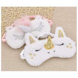 BN Cute Cartoon Unicorn Sleeping Eye Cover Blindfold Eye Mask Soft Cover