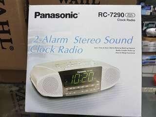 PANASONIC 2 ALARM STEREO SOUND CLICK RADIO