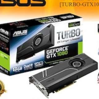 AS TURBO-GTX1080-8GASUS TURBO-GTX1080-8GB GDDR5X (3Y)