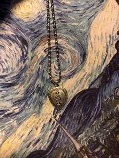 聖母 心心 摩洛哥風格 韓版 原宿風 頸鍊 鎖骨鍊