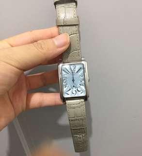 Titus 真皮錶帶鋼錶面