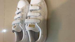 Adidas Originals Stan Smith 魔鬼氈 金色
