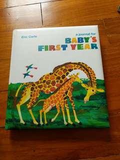🚚 A journal for Baby's First Year by Eric Carle