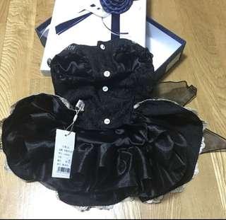 🚚 狗狗衣服 黑色質感蓬蓬裙