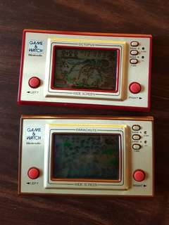 Nintendo game and watch octopus and parachute