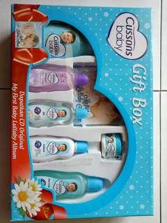 Gift Box Cussons Baby / Perlengkapan Perwatan Bayi Cussons / Bedak Bayi Cussons