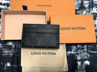 Brand New Louis Vuitton Double Card Holder Monogram Eclipse