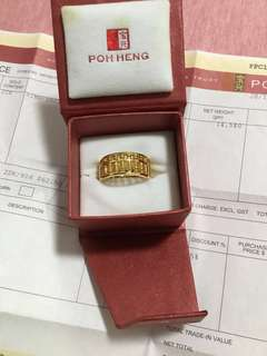 916 Abacus Gold Ring