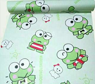 WALLPAPER STICKER DINDING UK 45CM X 10 METER - KEROPPI