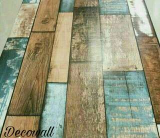 WALLPAPER STICKER DINDING UK 45CM X 10 M- KAYU DAKEER WOOD