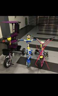 Bundle deal* Stroller, bicycle and scooter