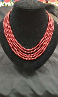5LAYER CORAL NECKLACE