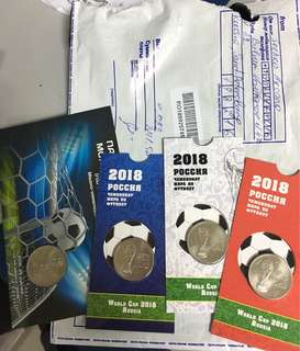 World Cup 2018 Coins in Packaging