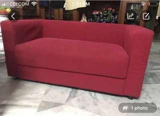 Red gorgeous sofa