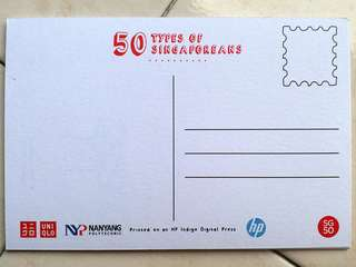 """50 Types of Singaporeans"" Postcards"