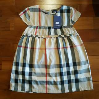 Burberry girl dress (7T)