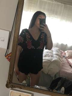 Gorgeous black/floral playsuit