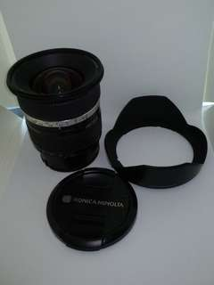 Minolta 17-35mm f 2.8-4 Sony A-mount