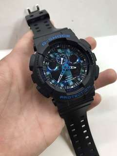 CAMOUFLAGE BLACK BLUE GSHOCK WATCH