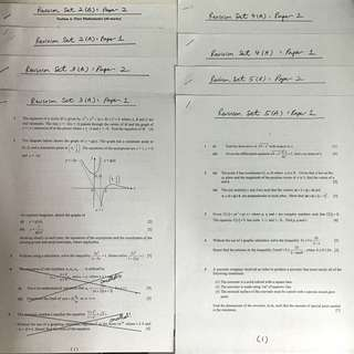 GIVEAWAY H2 Math Practice Papers