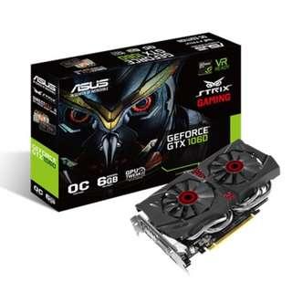 AS STRIX-GTX1060-DC2O6GASUS STRIX-GTX1060-DC2O6GB GD5 DUAL FAN (3Y)
