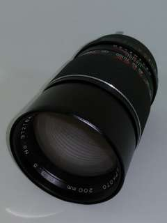 Minolta MD mount Soligor 200mm 3.5 manual lens