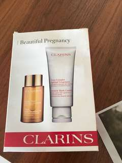 Clarins stretch mark control and tonic body treatment oil