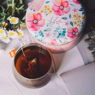 花茶 洛神花酸梅湯包16個+精美茶葉罐