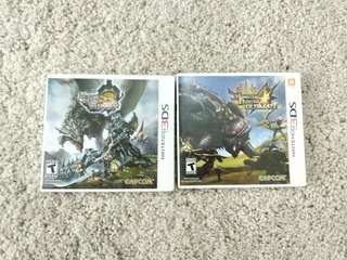 Nintendo 3ds monster hunter 3 and 4 ultimate games