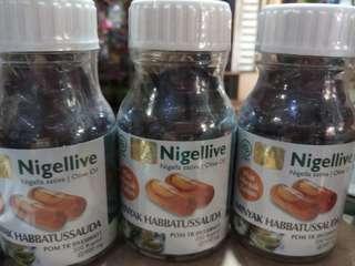 Nigellive Minyak Habbatussauda plus Olive Oil 200 caps